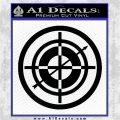 Hawkeye Target Scope emblem Drama Online Store Powered by Storenvy DLB Decal Sticker Black Logo Emblem 120x120