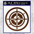 Hawkeye Target Scope emblem Drama Online Store Powered by Storenvy DLB Decal Sticker Brown Vinyl 120x120