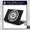 Hawkeye Target Scope emblem Drama Online Store Powered by Storenvy DLB Decal Sticker White Vinyl Laptop 120x120