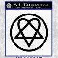 Heartogram Decal Sticker HIM Black Vinyl 120x120