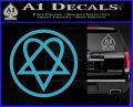 Heartogram Decal Sticker HIM Light Blue Vinyl 120x97