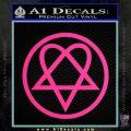Heartogram Decal Sticker HIM Pink Hot Vinyl 120x120