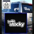 Hella Stocky Decal Sticker JDM White Emblem 120x120