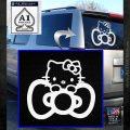 Hello Kitty Big Bow Decal Sticker White Emblem 120x120