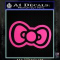 Hello Kitty Bow D2 Decal Sticker Hot Pink Vinyl 120x120