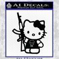 Hello Kitty Skul AK 47 Decal Sticker Black Logo Emblem 120x120