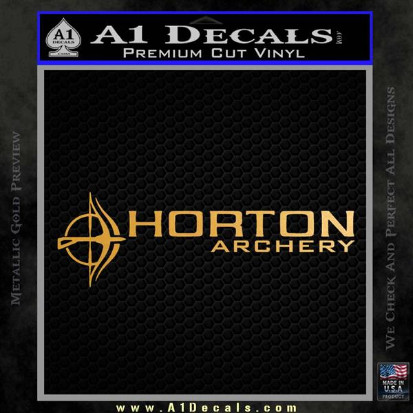 Horton Archery Decal Sticker Metallic Gold Vinyl