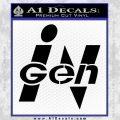 InGen Jurassic Park Lost World Decal Sticker Black Vinyl 120x120