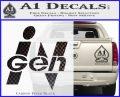 InGen Jurassic Park Lost World Decal Sticker Carbon FIber Black Vinyl 120x97