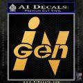 InGen Jurassic Park Lost World Decal Sticker Gold Vinyl 120x120