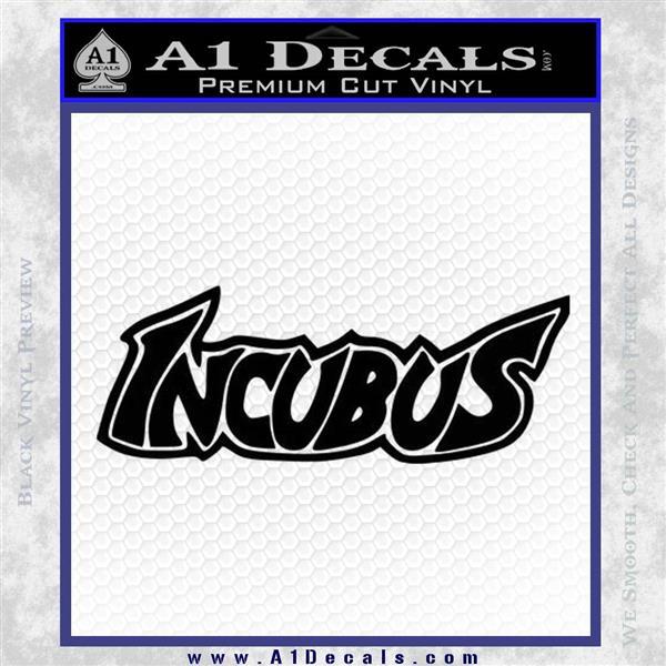 Incubus Rock Band Vinyl Decal Sticker Black Logo Emblem
