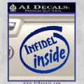 Infidel Inside Decal Sticker Blue Vinyl 120x120