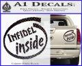 Infidel Inside Decal Sticker Carbon Fiber Black 120x97