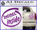 Infidel Inside Decal Sticker Purple Vinyl 120x97