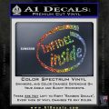 Infidel Inside Decal Sticker Sparkle Glitter Vinyl 120x120