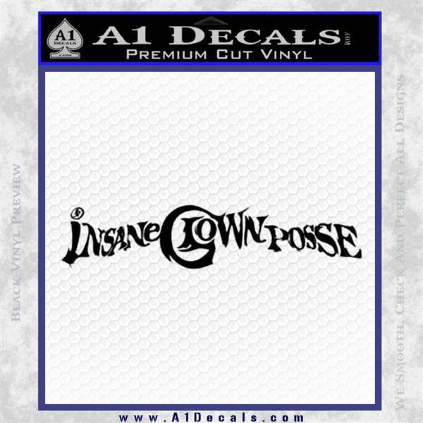 Insane Clown Posse Logo Decal Sticker VZL Black Logo Emblem