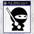 JDM Ninja Decal Sticker Cute Black Logo Emblem 120x120