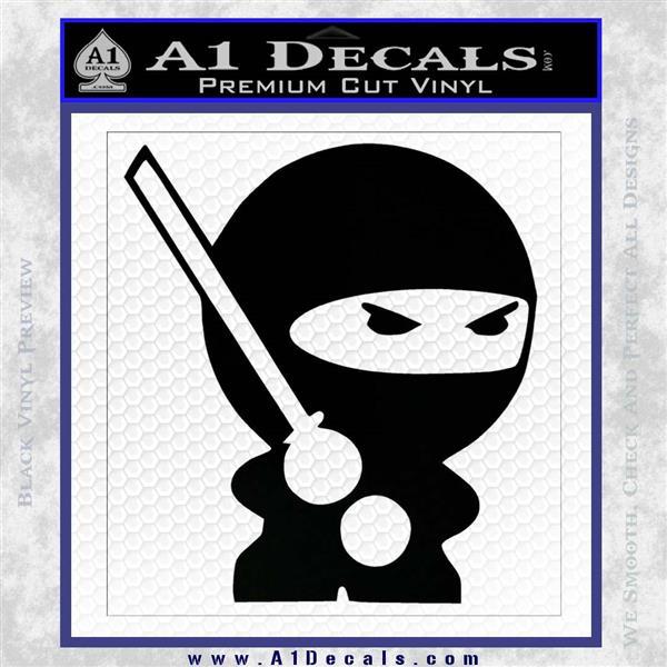 JDM Ninja Decal Sticker Cute Black Logo Emblem