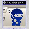 JDM Ninja Decal Sticker Cute Blue Vinyl 120x120
