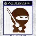 JDM Ninja Decal Sticker Cute Brown Vinyl 120x120