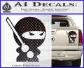 JDM Ninja Decal Sticker Cute Carbon Fiber Black 120x97