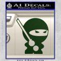 JDM Ninja Decal Sticker Cute Dark Green Vinyl 120x120
