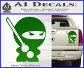 JDM Ninja Decal Sticker Cute Green Vinyl 120x97
