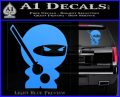 JDM Ninja Decal Sticker Cute Light Blue Vinyl 120x97