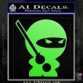 JDM Ninja Decal Sticker Cute Lime Green Vinyl 120x120