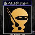 JDM Ninja Decal Sticker Cute Metallic Gold Vinyl 120x120