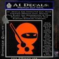 JDM Ninja Decal Sticker Cute Orange Vinyl Emblem 120x120
