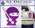 JDM Ninja Decal Sticker Cute Purple Vinyl 120x97