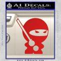 JDM Ninja Decal Sticker Cute Red Vinyl 120x120