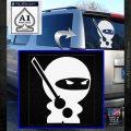 JDM Ninja Decal Sticker Cute White Emblem 120x120