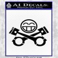 JDM Smiley Piston Decal Sticker Black Logo Emblem 120x120