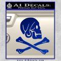 Jollly Roger Henry Every Crossbones Decal Sticker Blue Vinyl 120x120