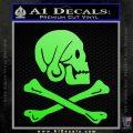 Jollly Roger Henry Every Crossbones Decal Sticker Lime Green Vinyl 120x120