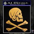 Jollly Roger Henry Every Crossbones Decal Sticker Metallic Gold Vinyl 120x120