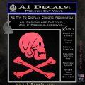 Jollly Roger Henry Every Crossbones Decal Sticker Pink Vinyl Emblem 120x120