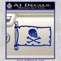 Jollly Roger Henry Every Pirate Flag INT Decal Sticker Blue Vinyl 120x120
