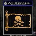 Jollly Roger Henry Every Pirate Flag INT Decal Sticker Metallic Gold Vinyl 120x120