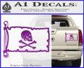 Jollly Roger Henry Every Pirate Flag INT Decal Sticker Purple Vinyl 120x97