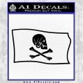 Jollly Roger Henry Every Pirate Flag SL Decal Sticker Black Logo Emblem 120x120