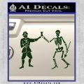 Jolly Roger Black Bart Crossbones D1 Decal Sticker Dark Green Vinyl 120x120
