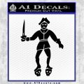 Jolly Roger Black Bart Crossbones D2 Decal Sticker Black Logo Emblem 120x120