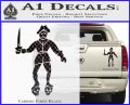 Jolly Roger Black Bart Crossbones D2 Decal Sticker Carbon Fiber Black 120x97