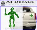 Jolly Roger Black Bart Crossbones D2 Decal Sticker Green Vinyl 120x97