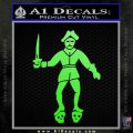 Jolly Roger Black Bart Crossbones D2 Decal Sticker Lime Green Vinyl 120x120