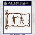 Jolly Roger Black Bart Pirate Flag INT D1 Decal Sticker Brown Vinyl 120x120