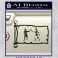 Jolly Roger Black Bart Pirate Flag INT D1 Decal Sticker Dark Green Vinyl 120x120